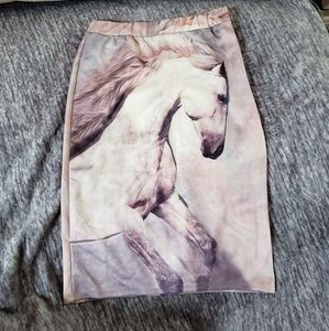 Dresses & Skirts - Skirt with horse pattern size Small